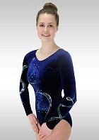 Turnpakje Lange Mouw Blauw Velours K807 Glitter