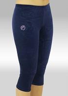Legging 3/4 blauw velours K754ma