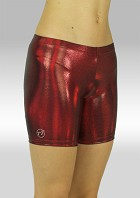 Legging kort wetlook olieglans bordeaux O756bo