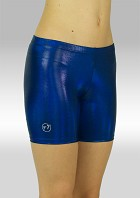 Legging kort wetlook olieglans marineblauw. O756ma