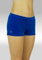 Hotpants P758bl Glad velours blauw