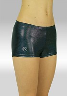 Hotpants zwart metallic wetlook S758zw