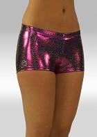 Hotpants aubergine wetlook glitter W758454