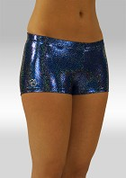 Hotpants marine wetlook glitter W758494