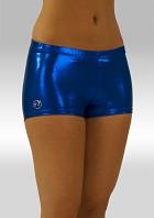 Legging hotpants wetlook olieglans kobaltblauw O758ko