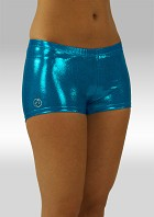 Hotpants turquoise wetlook O758tu