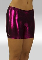 Legging kort wetlook aubergine W756au